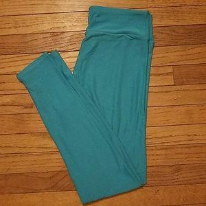 Lularoe Solid Turquoise Leggings